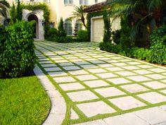 driveway pavers grass