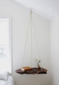 bedside table suspended